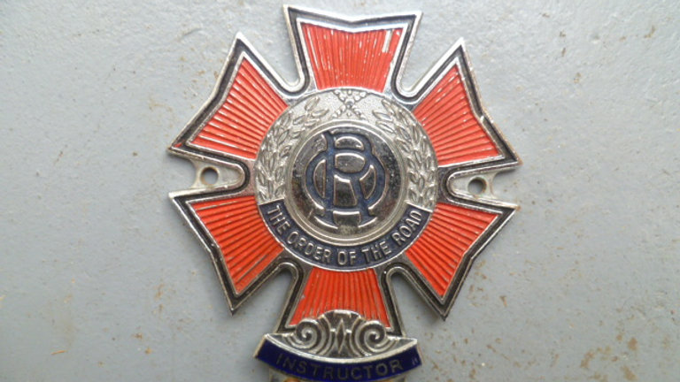 Order of the Road Badge.