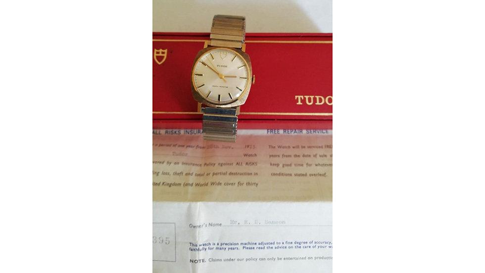 Rolex Tudor 9crt Gold . Circa 1973