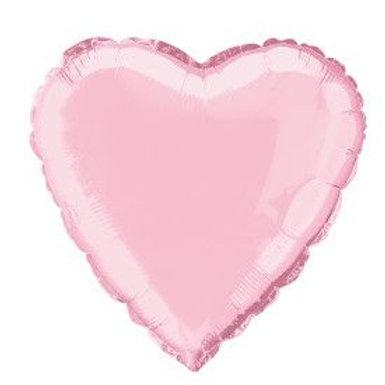 "Balloon Foil 18"" Heart Pastel Pink"