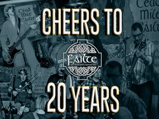 The Doubts Celebrate 20 Years with Failte Irish Pub!