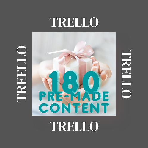 Trello 180 days pre-made content