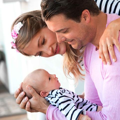 Familie mit Baby