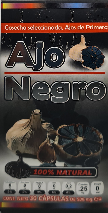 Ajo Negro Con Jengibre 500mgs