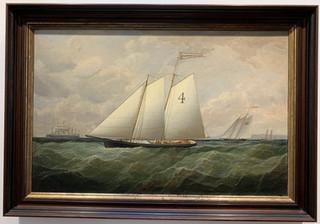 Fine Schooner Painting the Abraham Leggett
