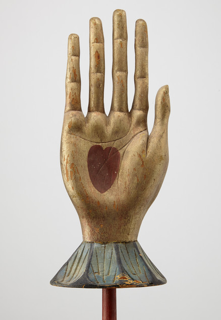 Carved Fine Heart in Hand Staff