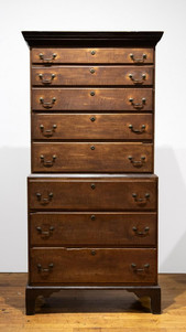 Tiger Maple Chippendale Chest on Chest