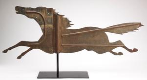 Large Flying Sheet Iron Horse Weathervane