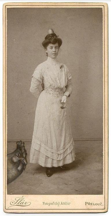 "Jana Paleckova ""untitled (woman with chicken and egg)"""