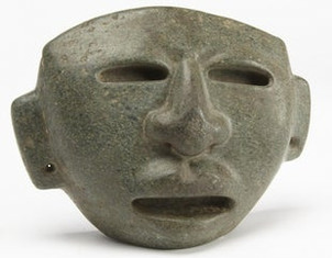 Mayan Carved Stone Mask