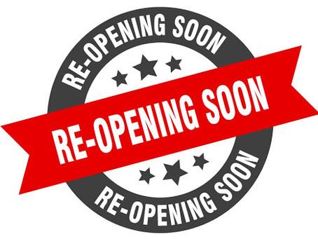 We will open in July !