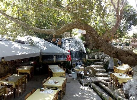Argyroupolis, among waterfalls and tavernas