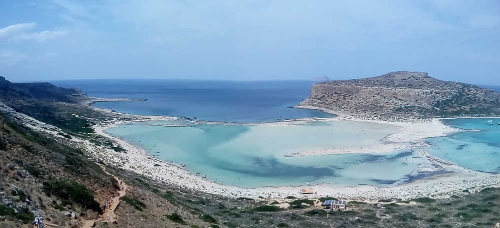 The Balos lagoon