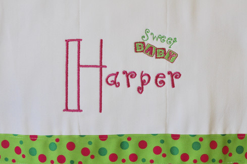 Pink/Green Sweet Baby Cleanup Cloth