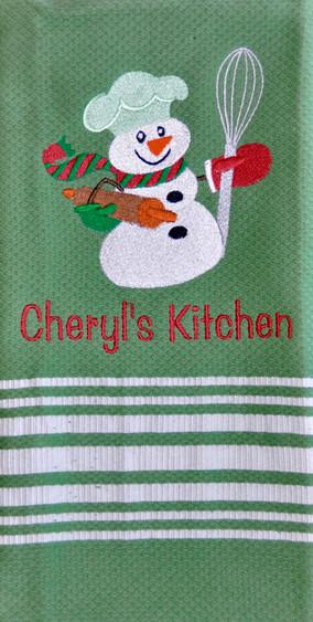 Cooking Snowman Towel