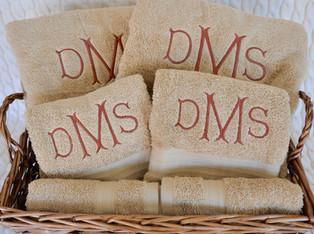 Brown Monogram Towel Set