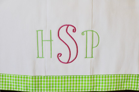 Pink/Green Monogram Cleanup Cloth