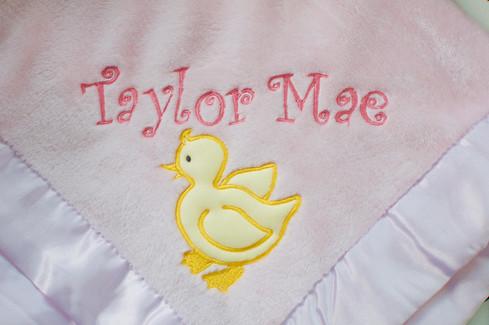 Duckie Applique Blanket
