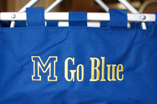M Go Blue Basket