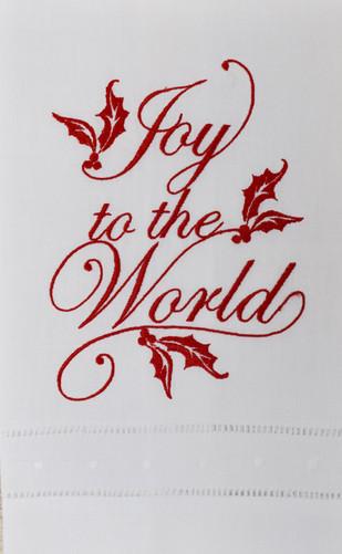 Joy to the World Linen Towel