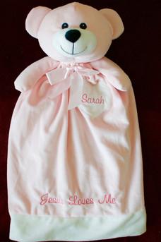 Pink Bear Blankey