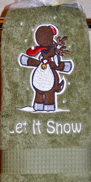 Let It Snow Hand Towel