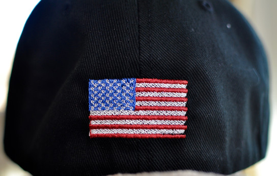 Flag on Hat Back