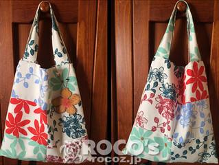 ロコズの布地でお客様が作ったバッグ