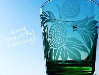 早朝の空と'uluグラス