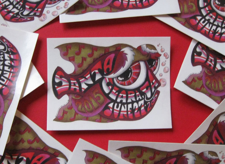 2015 santa clara happy fish sticker