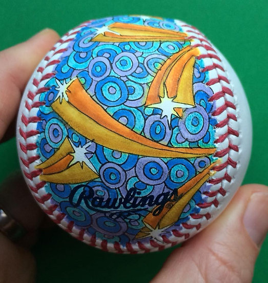 2018 hand painted baseball #1