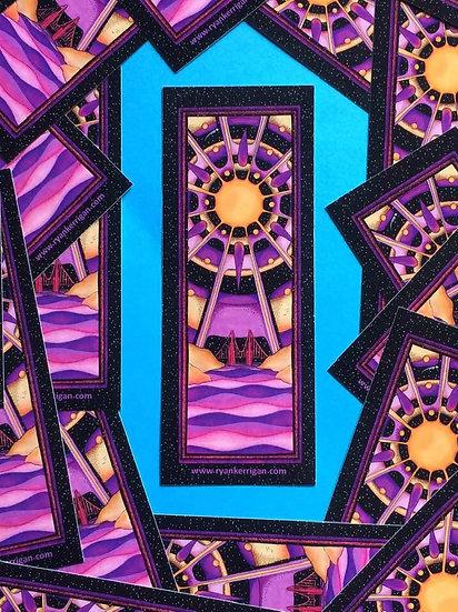 purple bay sticker