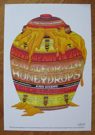 california honeydrops fillmore poster #F1579
