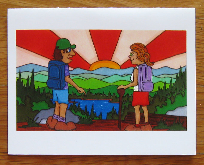 greeting card ~ hikers