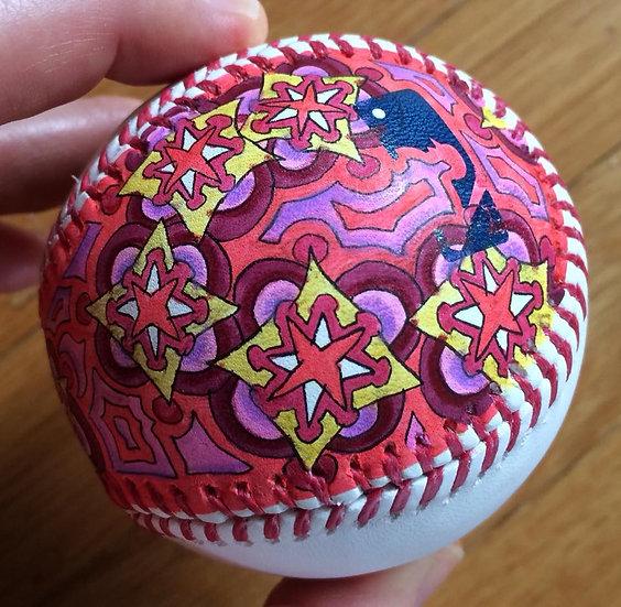 2018 hand painted baseball #8