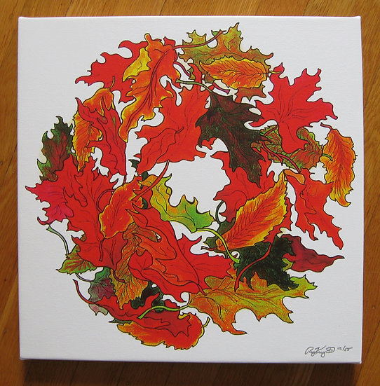 LEAF WREATH canvas print