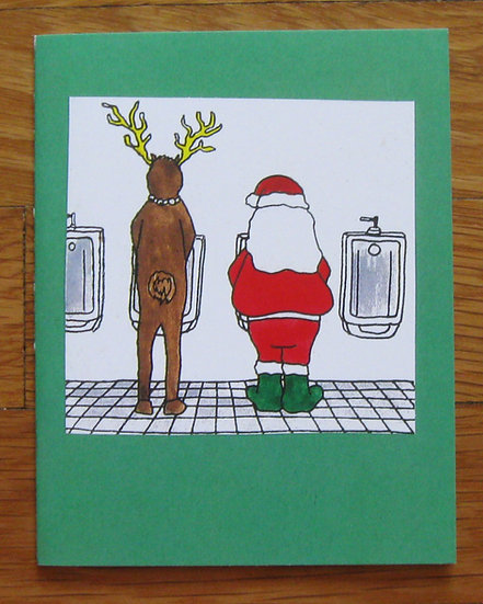 greeting card ~ santa rest stop