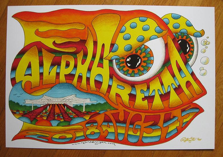 2018 alpharetta happy fish poster
