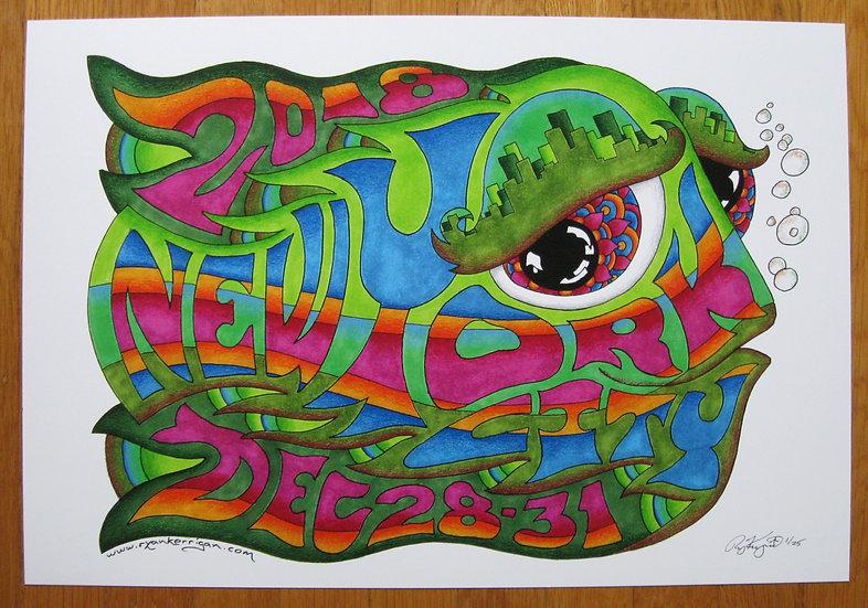 2018-2019 new york city happy fish poster