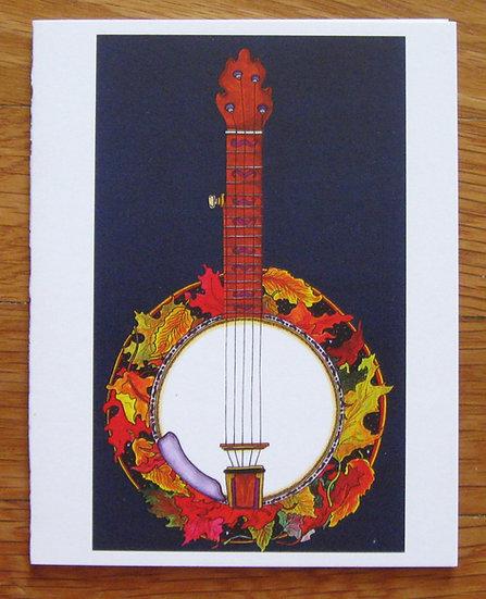 greeting card ~ banjo