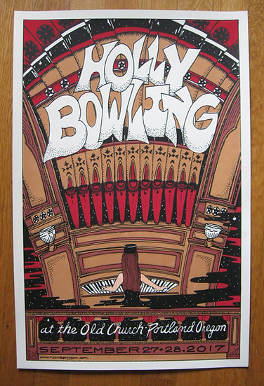 holly bowling portland september 2017 silkscreened poster