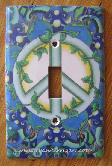 peace light switch cover