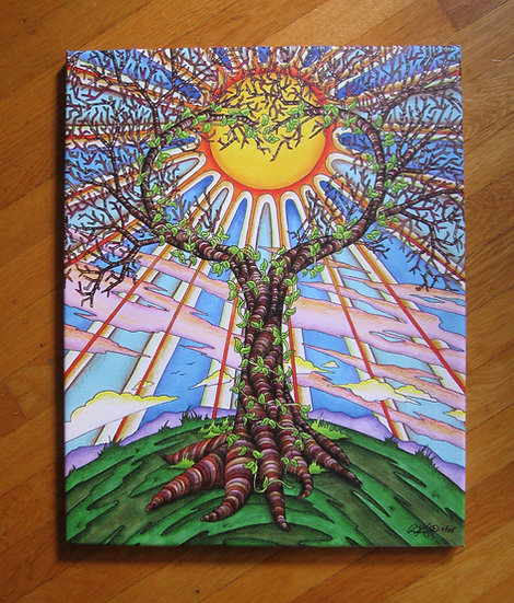SUMMONING SUNSHINE canvas print