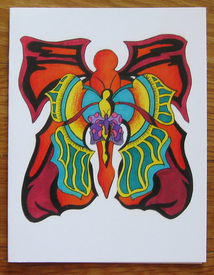 greeting card ~ three butterflies