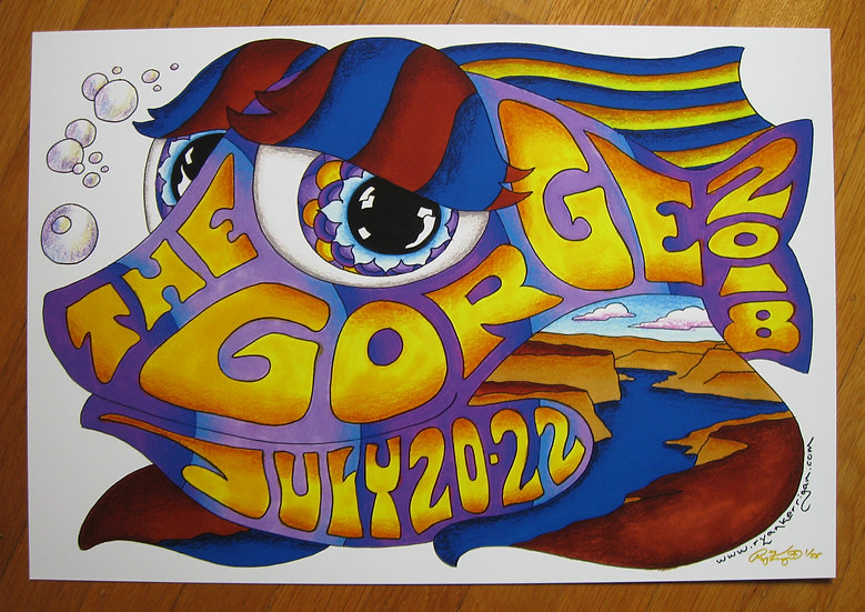 2018 gorge happy fish poster