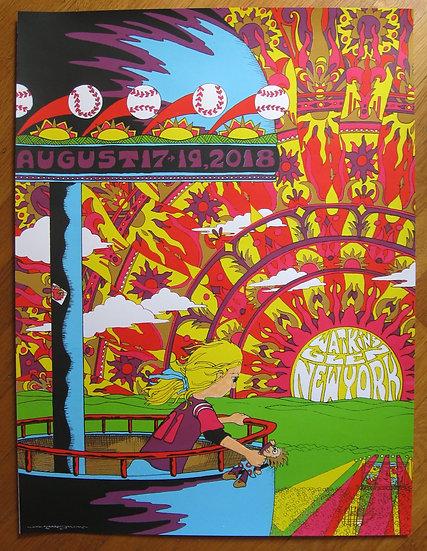 """""""at a fairground near town"""" 2018 watkins glen silkscreened print"""