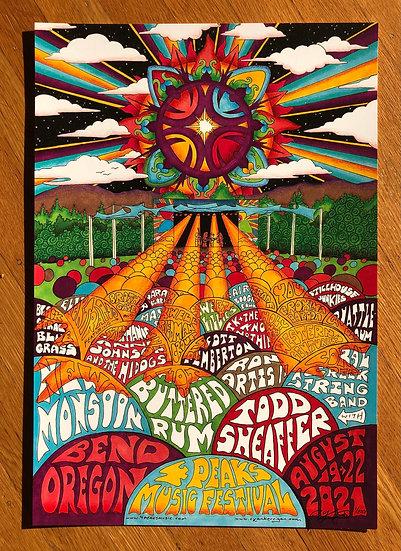 4 PEAKS MUSIC FESSTIVAL 2021 poster