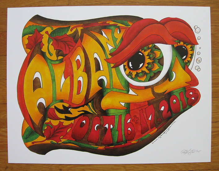 2018 albany happy fish poster