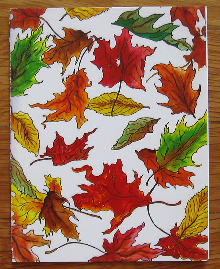 greeting card ~ leaves
