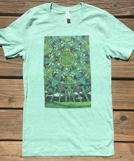 a green world shirt