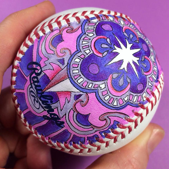 2018 hand painted baseball #7